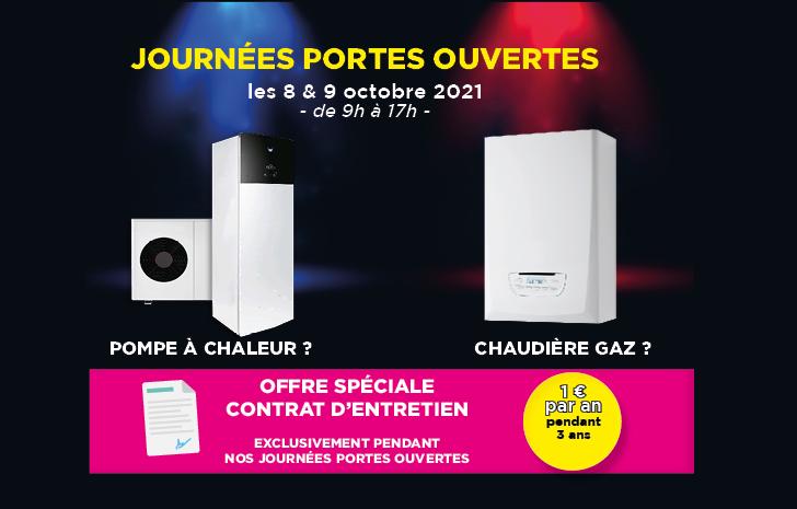 Portes Ouvertes DEPAN'CHAUFFAGE SERVICE à Villiers-sur-Orge les 8 et 9 octobre 2021