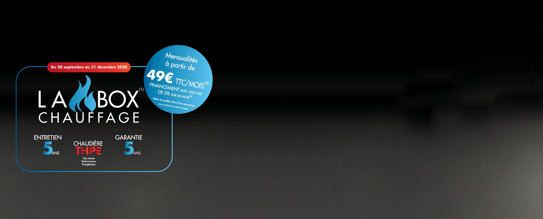 offre pack chauffage tout inclu garantie pose chaudière THPE entretien
