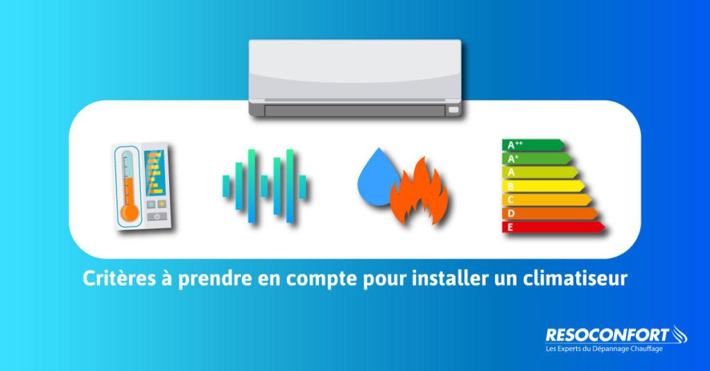 Critères à prendre en compte pour l'installation d'une PAC air air - climatisation réversible Pompe à chaleur dans un logement