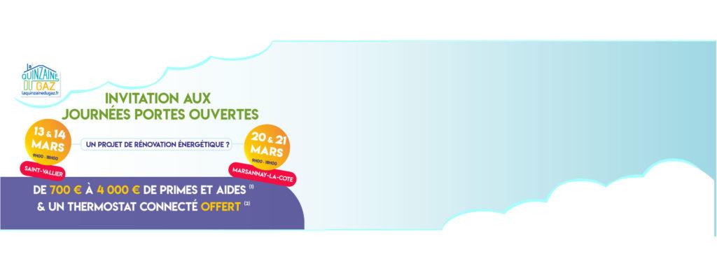 Portes ouvertes Mars 2020 : Saint-Vallier et Marsannay-la-Côte